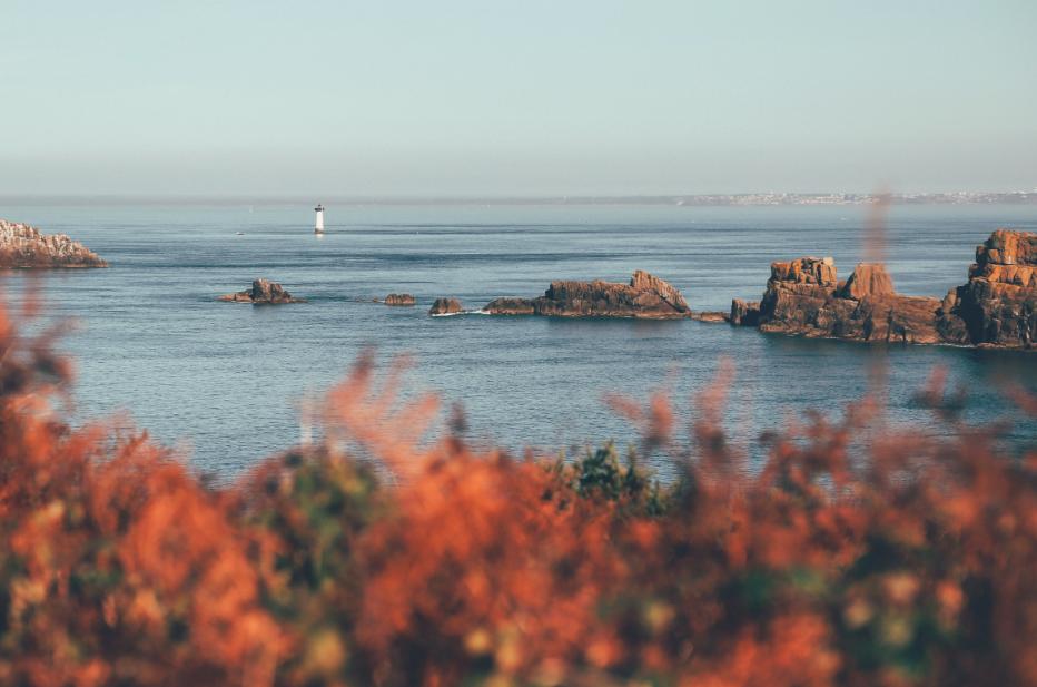 Océan plage Bretagne avec jolie vue